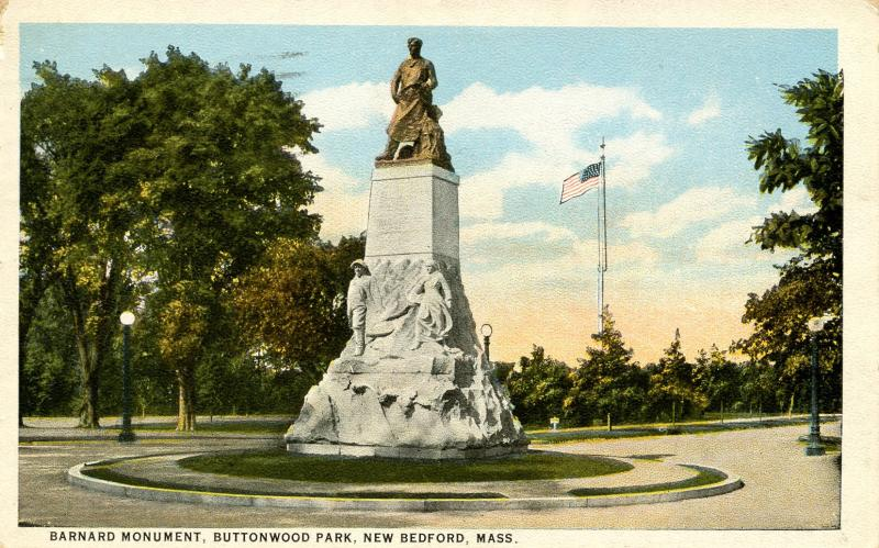 MA - New Bedford. Barnard Monument, Buttonwood Park