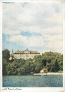 Postcard Germany Schloss Mainau mit Hafen palace view