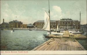 South Boston MA Yacht Club c1905 Postcard