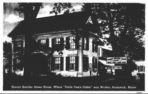 Maine Brunswick Harriet Beecher Stowe House Curteich