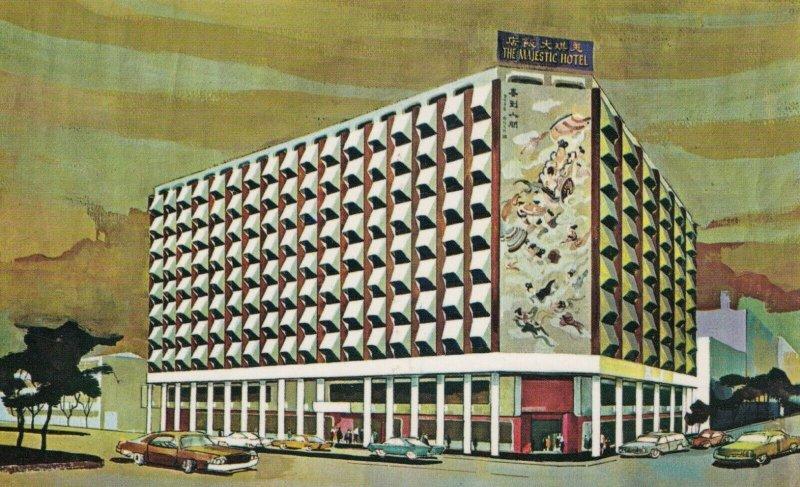 TAIPEI, Taiwan, 1940-60s; The Majestic Hotel, Classic Cars