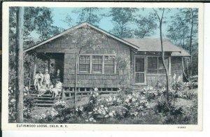 CG-328 NC, Celo, Elfinwood Lodge White Border Postcard near Burnsville