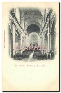 Old Postcard Nancy Cathedral Great Nave