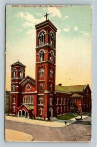 Rochester NY, Brick Presbyterian Church, Vintage New York c1910 Postcard