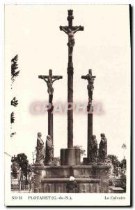 Postcard Old Plouaret C N Calvary