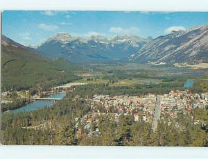 Unused Pre-1980 TOWN VIEW SCENE Banff Alberta AB p8036