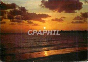 Postcard Modern Banks of Sea Sunset