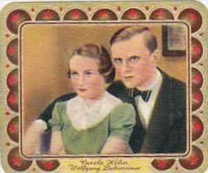 Garbaty Cigarette Card 1934 Modern Beauties No 119 Carola Hoehn &amp  Wolfgan...