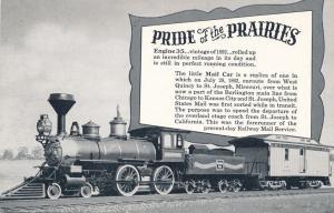 Pioneer Locomotive and First Railway Mail Car - Burlington Railroad Souvenir