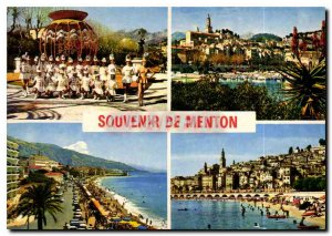 Postcard Moderne Menton French Riviera Menton Remembrance
