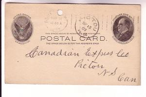 Postal Stationery McKinley 1C,  Honlkin, Maine Cancel, 1903