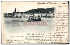 Old Postcard Caudebec vur Seine Boat