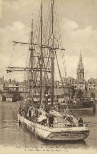 france, SAINT-MALO, Three Mast in the Harbour (1920s) LL. 150