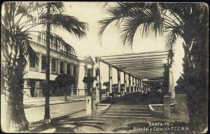 argentina, SANTA FE, Rosedal y Estacion F.C., Station (1941)