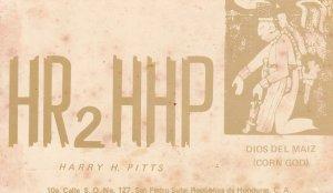 Honduras Corn God 1970 QSL Amateur Radio Card