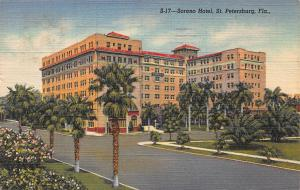 Soreno Hotel, St. Petersburg, Florida, Early Postcard, Used in 1951