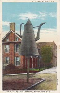 North Carolina Winston Salem The Big Coffee Pot Curteich