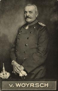German Field Marshal Remus von Woyrsch in Uniform, Medal (1910s) WWI Postcard