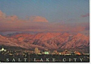 Postcard - UT Utah Salt Lake City Skyline Mountain View Oversized Card Unposted