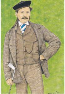 print  of golfer Tom Morris Jr  winner of the 12th Open Championship