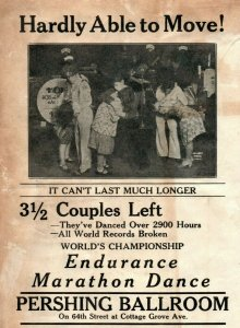 1920s World Championship Dance Marathon Handbill Pershing Ballroom Chicago &W