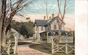 Home of Oliver W. Holmes, Beverly Farms, Massachusetts, Early Postcard, Unused