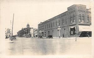 F36/ Moorhead Minnesota RPPC Postcard c1910 Drug Store Automobiles