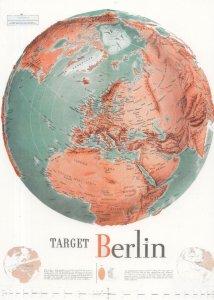 Target Berlin Map WW2 German Military Orientation Course Postcard