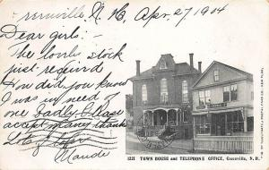 Greenville NH Telephone Office Town House 1904 Postcard