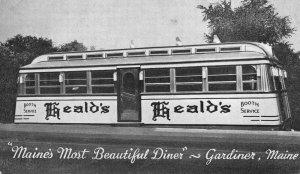 Gardiner ME Heald's Diner Booth Service Postcard