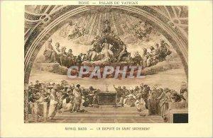 Postcard Ancient Rome Vatican Palace Raphael Sanzo The argument of the Blesse...