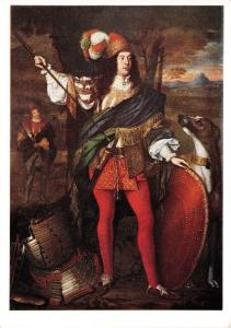Art Postcard, Sir Neill O'Neill by John Michael Wright (1608) U88