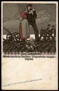 Austria WWI Patriotic Wilhelm Dachauer Artist Cover War Aid Donation Postc 73054