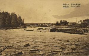finland suomi, KAJAANI KAJANA, Koivukoski, River Scene (1910s)