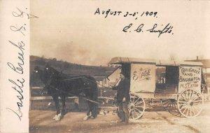 Photo Horse Drawn Wagon  Castle Creek Binghamton NY Stage Coach Postcard RR666