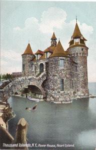 Thousand Islands NY Heart Island Power House Castle Moat Vintage Postcard c 1915