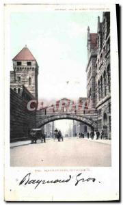 Postcard Old Pittsburh Bridge of sighs
