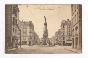 Street Scene & Statue @ Place d' Erlon,Reims,France 1900-10s