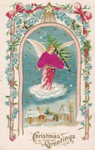 Christmas Angel , Silk Suit & carrying tree , 1908