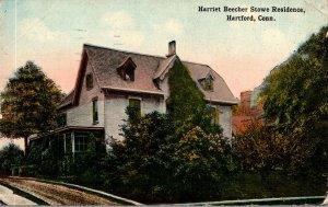 Connecticut Hartford Harriet Beecher Stowe Residence 1916