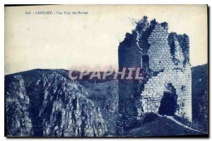 Old Postcard Crozant A Tower Ruins