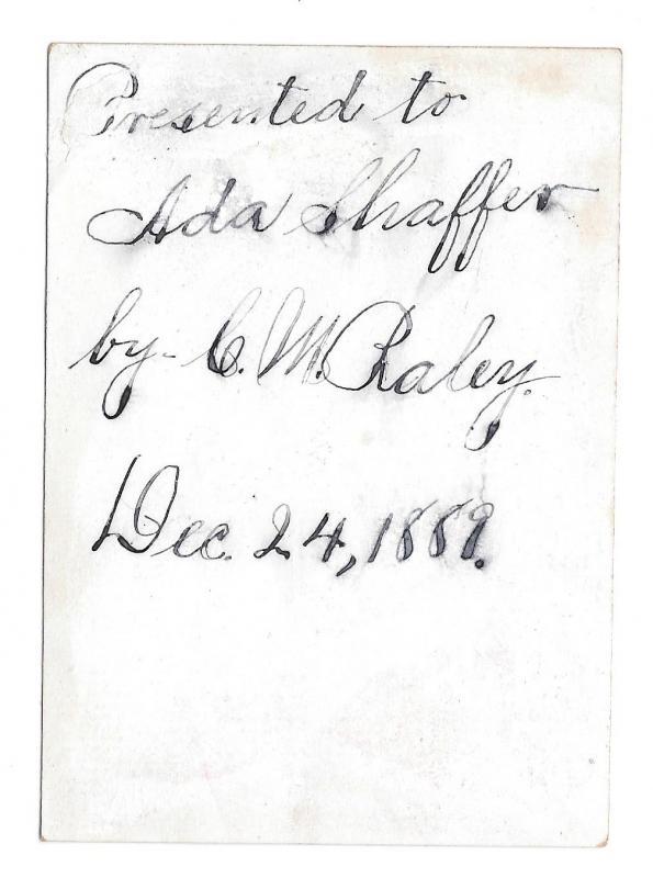 Antique Victorian Reward of Merit Card Girl Lamb 1889 Ada Shaffer Gibson Litho