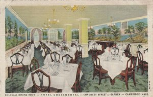 CAMBRIDGE , Massachusetts, 1930-40s ; Hotel Continental , Colonial Dining Room