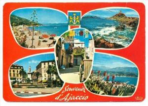 Ajaccio , France, PU-1986   4-view postcard