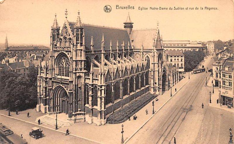 Eglise Notre Dame du Sablon et rue de la Regence Bruxelles United Kingdom, Gr...