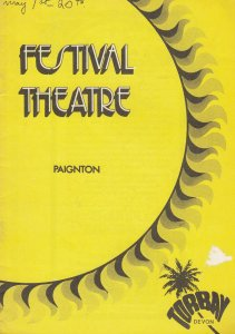 Paignton There'll Always Be An England Military Devon Theatre Programme