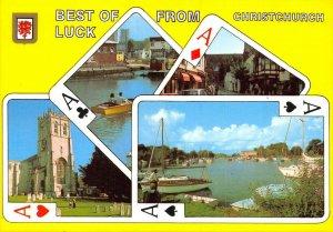 Dorset Postcard Best of Luck from Christchurch Playing Card Design AW1