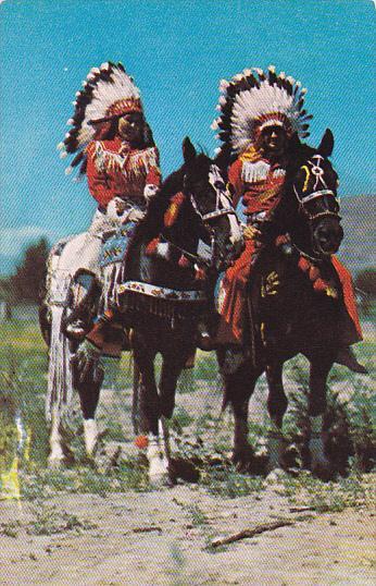 Indian Couple On Horseback In Full Dress