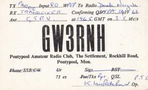 Wales Pontypool Amateur Radio Club QSL Vintage Welsh Postcard