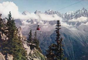 France Chamonix Mont Blanc Panorama sur les Aiguilles de Chamonix et l'Aiguil...